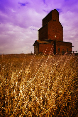 25 Oct 2004 --- Grain Elevator --- Image by © Kelly Redinger/Design Pics/Corbis